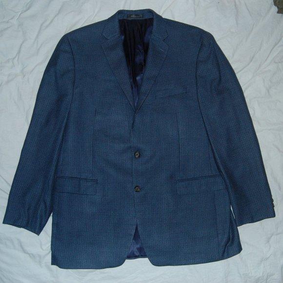 LRL Silk Wool Blend Houndstooth Sport Coat, 44L